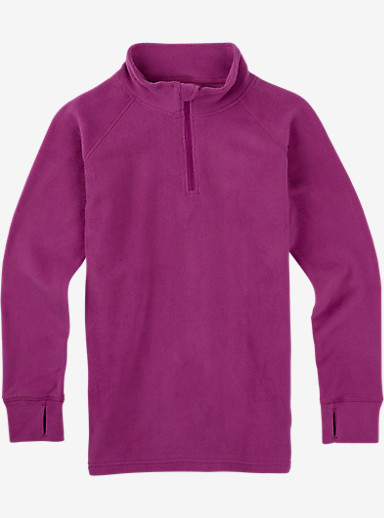 Burton Youth Fleece 1/4 Zip shown in Grapeseed