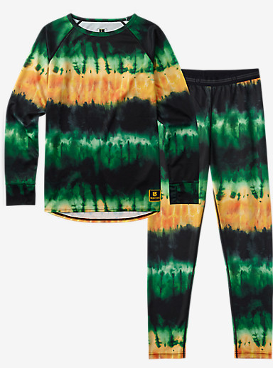 Burton Kids' Lightweight Base Layer Set shown in Surf Stripe