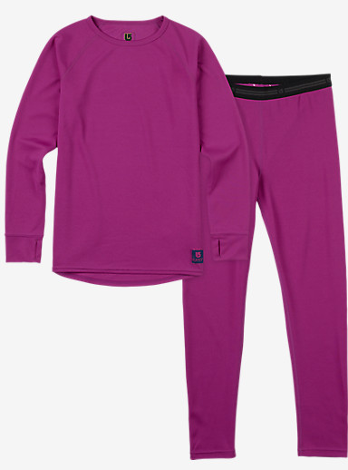 Burton Kids' Lightweight Base Layer Set shown in Grapeseed