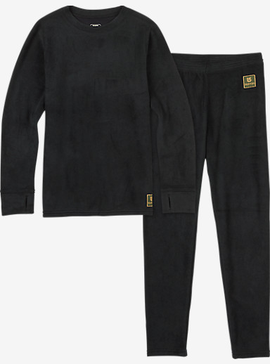 Burton Kids' Fleece Base Layer Set shown in True Black
