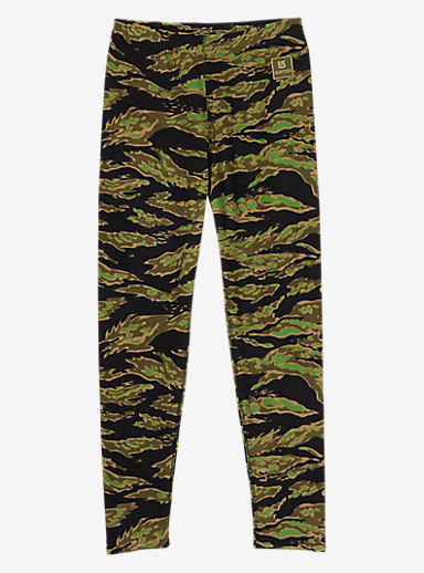 Burton Kids' Fleece Base Layer Set shown in Beast Camo