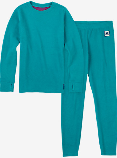 Burton Kids' Fleece Base Layer Set shown in Everglade