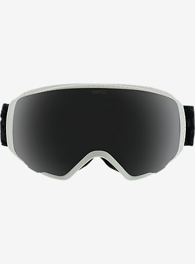 anon. WM1 Goggle adorned with crystals from Swarovski® shown in Frame: Swarovski® White (A2), Lens: Dark Smoke