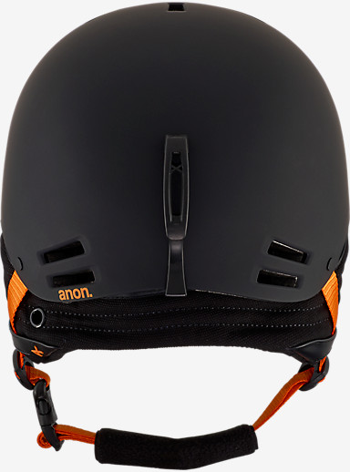 anon. Raider Helmet shown in Black / Orange