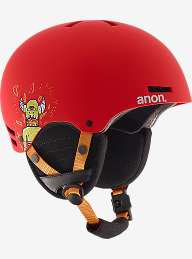 anon. Boys' Rime Helmet shown in 8Bit Red