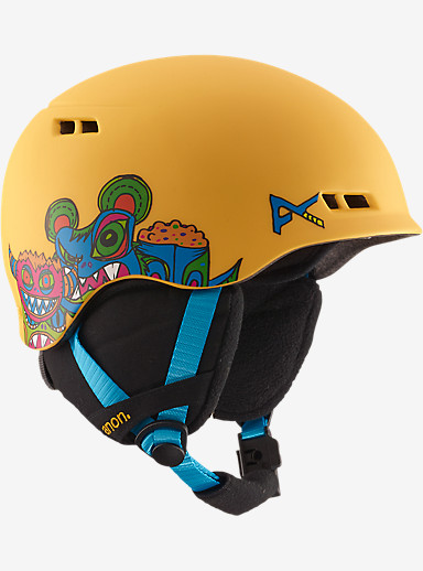 anon. Boys' Burner Helmet shown in Wild Thing Yellow