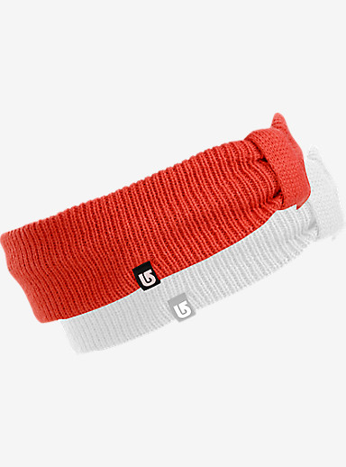 Burton Ashley Headband 2-Pack shown in Stout White / Coral