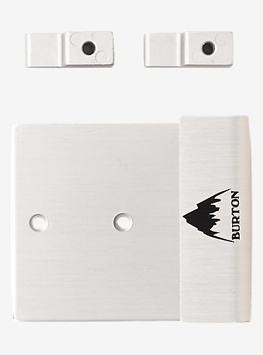 Burton Collector's Edition Snowboard Wall Mounts shown in Silver