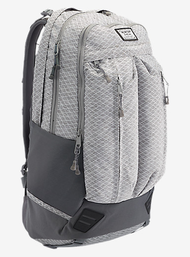 Burton Bravo Backpack shown in Grey Heather Diamond Ripstop
