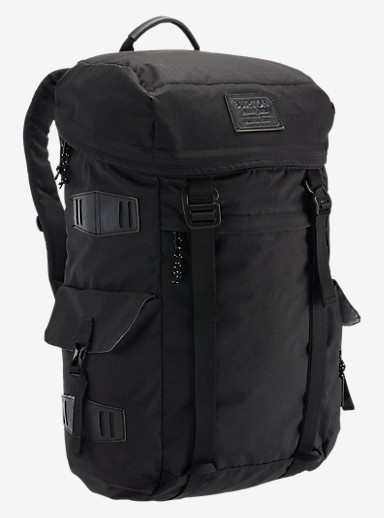 Burton Annex Backpack shown in True Black Triple Ripstop