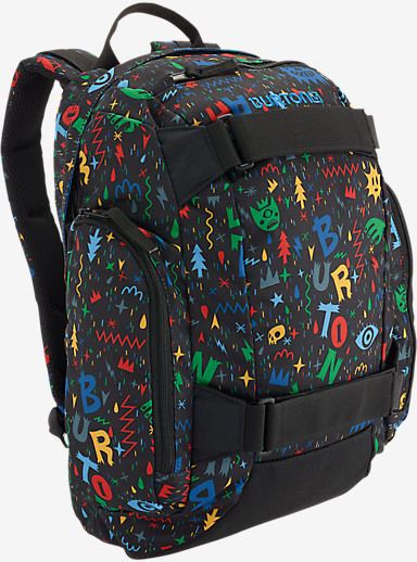 Burton Youth Metalhead Backpack shown in Yeah! Print