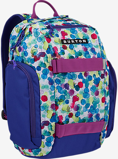 Burton Kids' Metalhead Backpack shown in Rainbow Drops Print