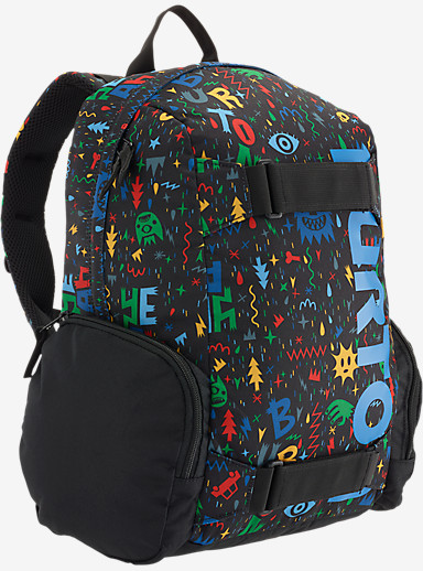 Burton Youth Emphasis Backpack shown in Yeah! Print