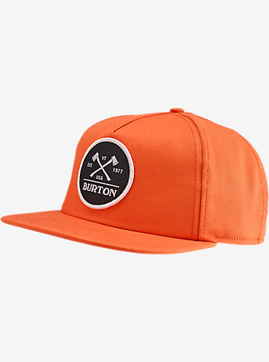 Burton Woodsman Snap Back Hat shown in Light Orange