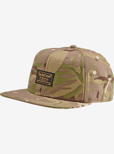 Burton Riggs Snap Back Hat shown in Green Camo