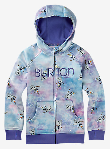 Disney Frozen Girls' Scoop Hoodie shown in Olaf Print © Disney
