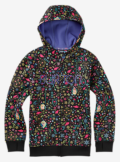 Burton Girls' Scoop Hoodie shown in Elsa Anna Print © Disney