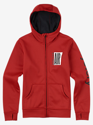Burton Boys' Bonded Full-Zip Hoodie shown in Process Red