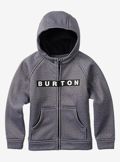 Burton Boys Mini Bonded Hoodie mit Reißverschluss angezeigt in Monument Heather