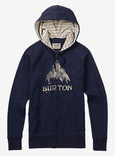 Burton Stamped MTN Full-Zip Hoodie shown in Eclipse Heather