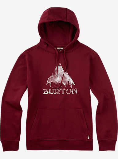 Burton Classic Mountain Pullover Hoodie shown in Zinfandel