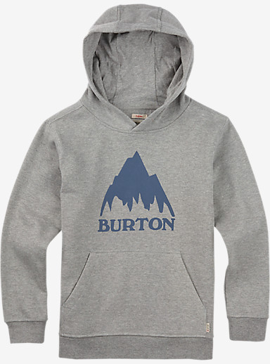 Burton Boys' Classic Mountain Pullover Hoodie shown in Gray Heather
