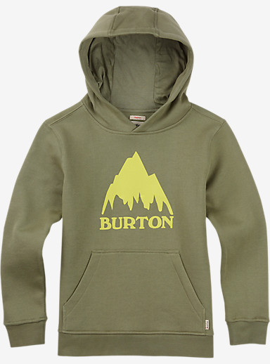 Burton Boys' Classic Mountain Pullover Hoodie shown in Light Olive