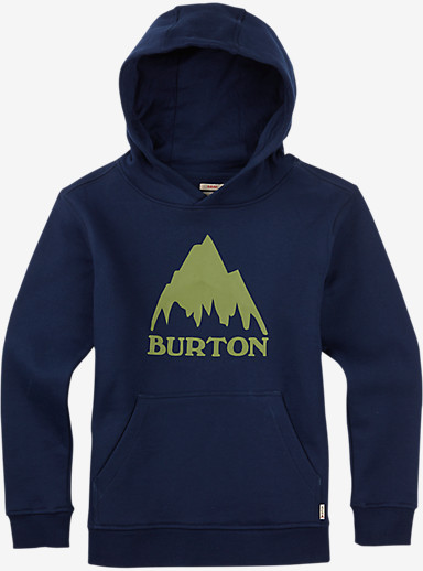 Burton Boys' Classic Mountain Pullover Hoodie shown in Indigo
