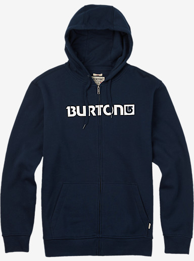 Burton Logo Horizontal Full-Zip Hoodie shown in Eclipse
