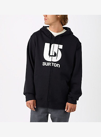 Burton Logo Vertical Full-Zip Hoodie shown in True Black