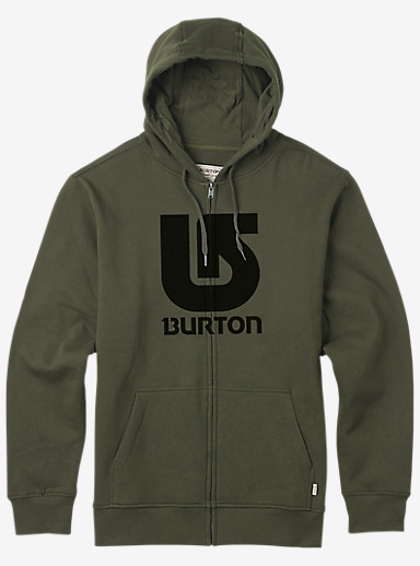 Burton Logo Vertical Full-Zip Hoodie shown in Keef