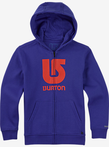 Burton Boys' Logo Vertical Full-Zip Hoodie shown in Web