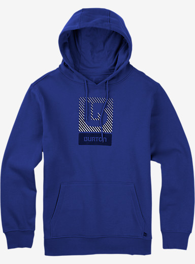 Burton Logo Vertical Fill Pullover Hoodie shown in Web