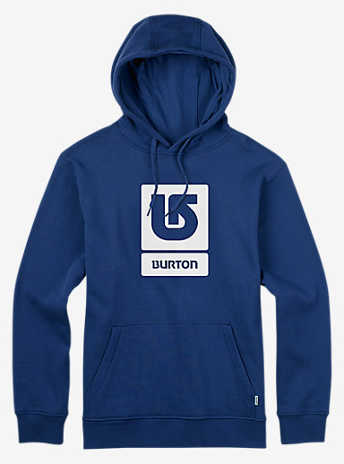 Burton Logo Vertical Fill Pullover Hoodie shown in True Blue
