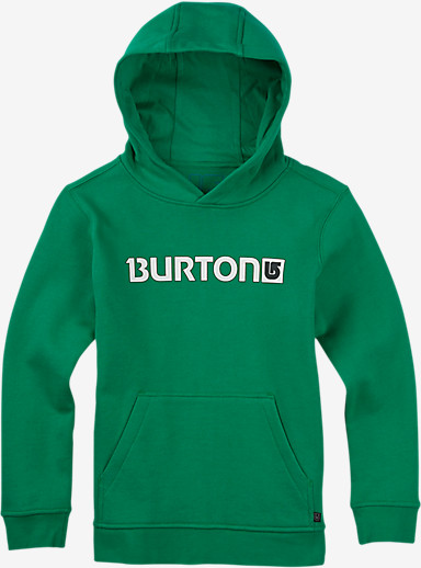 Burton Boys' Logo Horizontal Pullover Hoodie shown in Kelly Green