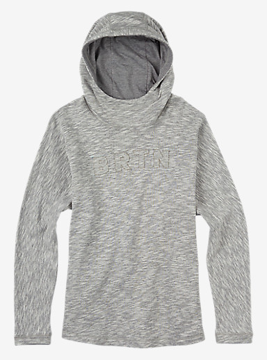 Burton Linden Pullover Hoodie shown in Gray Heather