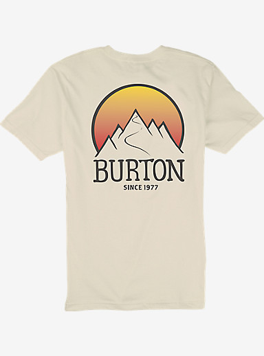 Burton Vista Slim Fit Short Sleeve T Shirt shown in Vanilla