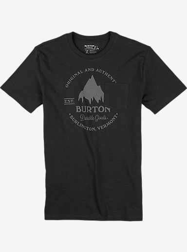 Burton Gristmill Short Sleeve Pocket T Shirt shown in True Black