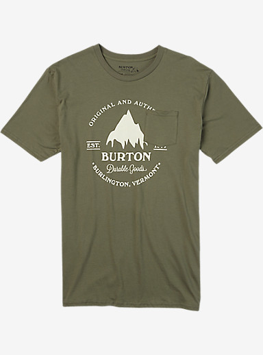 Burton Gristmill Short Sleeve Pocket T Shirt shown in Light Olive