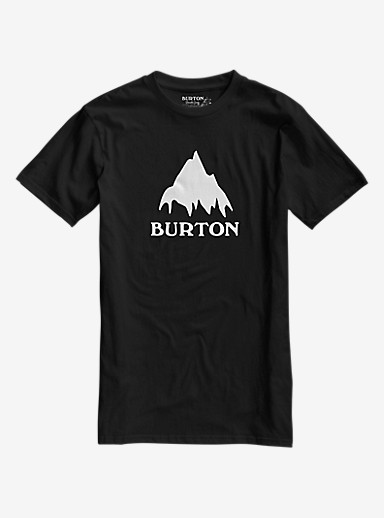 Burton Classic Mountain Short Sleeve T Shirt shown in True Black