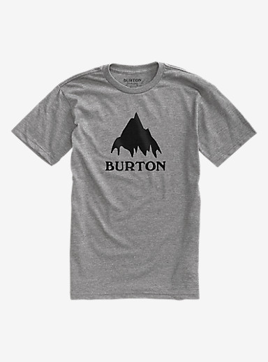 Burton Classic Mountain Short Sleeve T Shirt shown in Gray Heather
