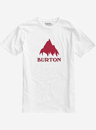 Burton Classic Mountain Short Sleeve T Shirt shown in Stout White