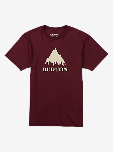 Burton Classic Mountain Short Sleeve T Shirt shown in Wino