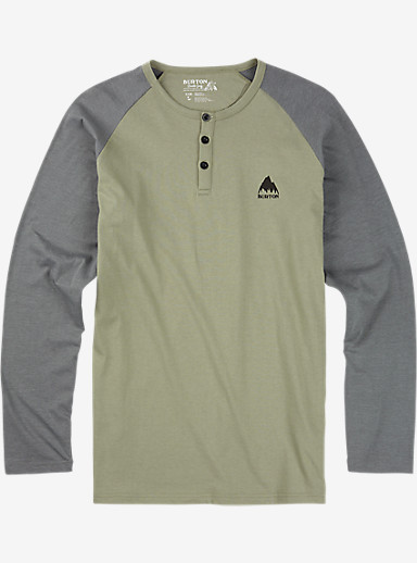 Burton Lifty Henley Long Sleeve Shirt shown in Light Olive