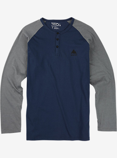Burton Lifty Henley Long Sleeve Shirt shown in Indigo