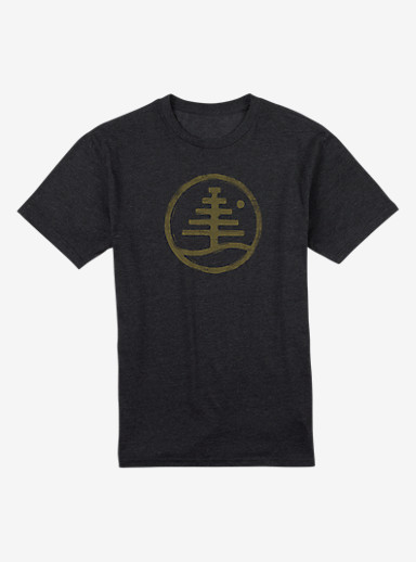 Burton Family Tree Recycled Slim Fit T Shirt shown in True Black Heather