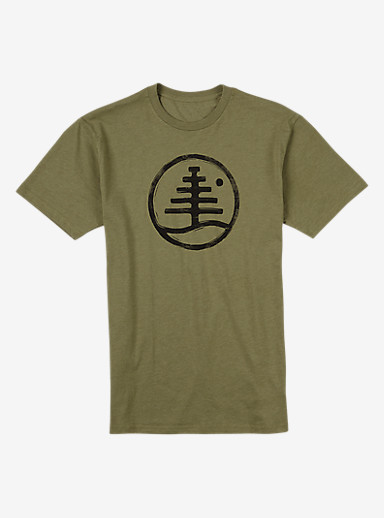 Burton Family Tree Recycled Slim Fit T Shirt shown in Olive Heather