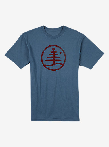 Burton Family Tree Recycled Slim Fit T Shirt shown in Blue Mirage Heather
