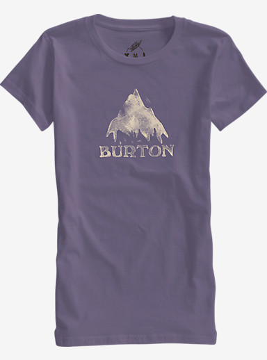 Burton Stamped Mountain Short Sleeve T Shirt shown in Dusty Grape
