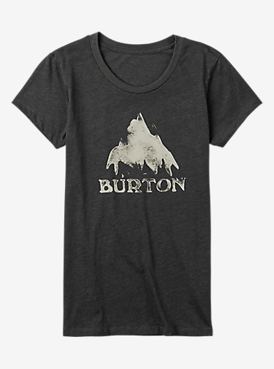 Burton Stamped Mountain Short Sleeve T Shirt shown in Faded Heather